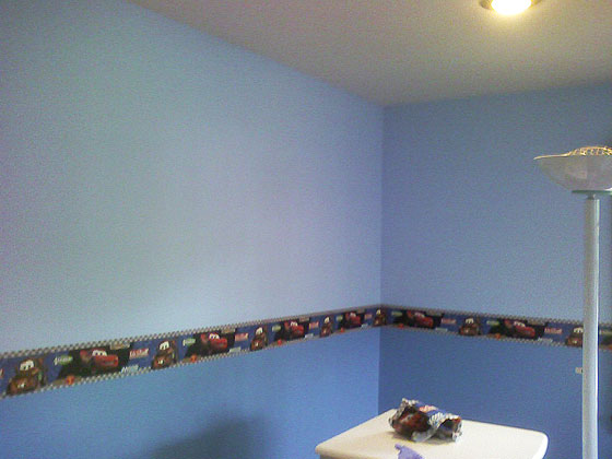 House Located in Roslyn, LI, NY. - Boy's Bedroom Wall - Car Theme